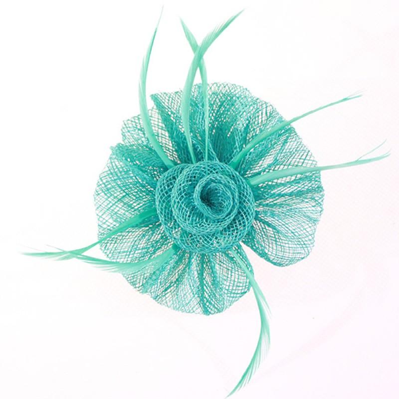 Pince Broche Mariage Fleur Lotus Vert Rose Rouge Rose Orange Bleu