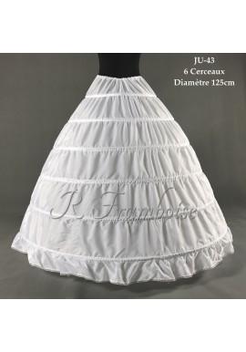 Jupon de Robe Mariage 6 Cerceaux Volume Simple