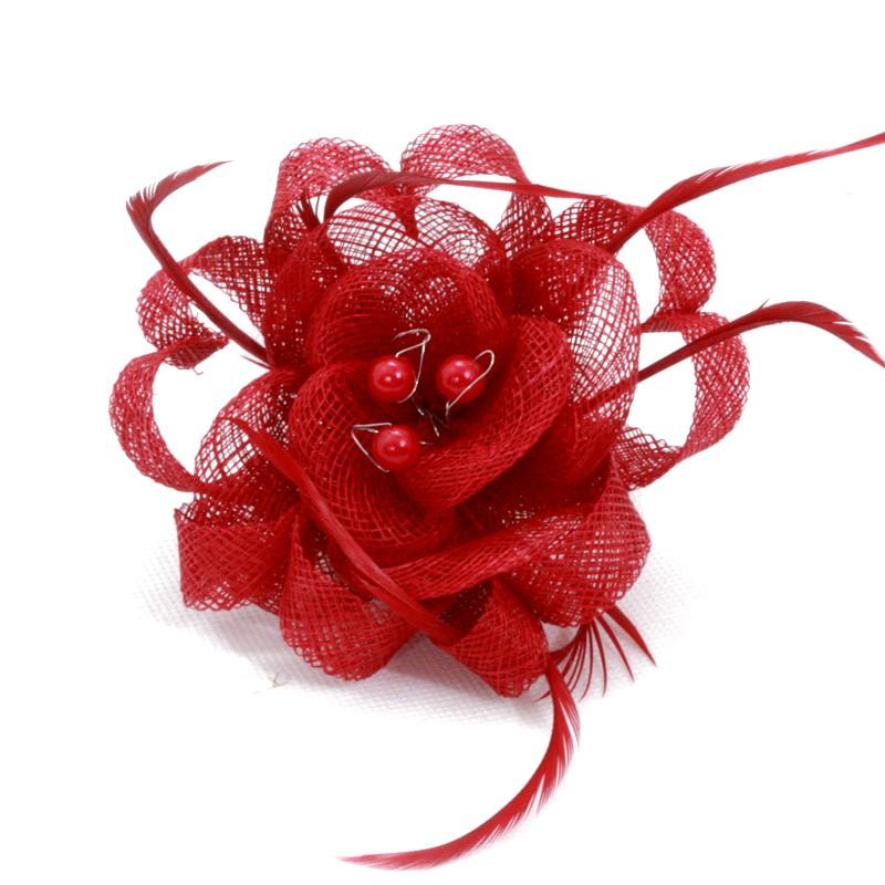 pince broche mariage fleur plumes ruban rond perles rouge noir bleu marron ivoire gris. Black Bedroom Furniture Sets. Home Design Ideas