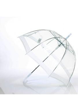 Parapluie Cloche Transparent Liseret Blanc
