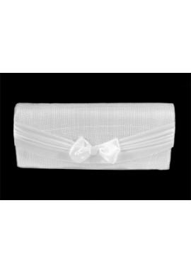 Sac Pochette Mariage Noeud Centré Sisal (Blanc, Marron, Vert, Rose)