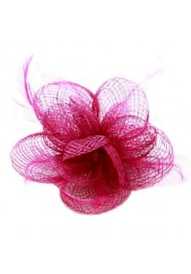 Pince Broche Mariage Petales Fleur Plumes Violet