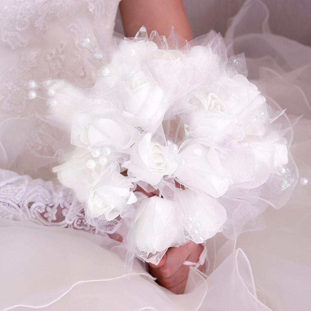 bouquet mari e fleur perle paillett e blanc rose ivoire. Black Bedroom Furniture Sets. Home Design Ideas