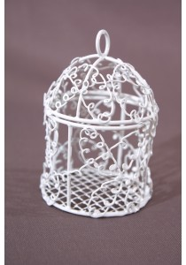 Mini-cage oiseaux blanche Dragees