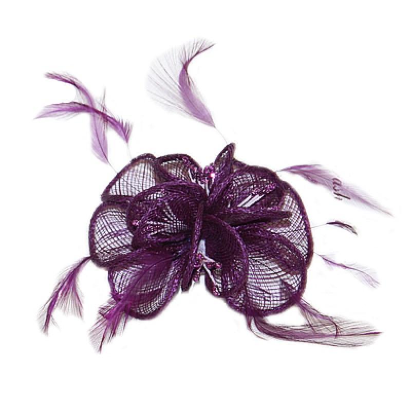 pince broche mariage fleurs sinamay bleu violet marron rose vert. Black Bedroom Furniture Sets. Home Design Ideas