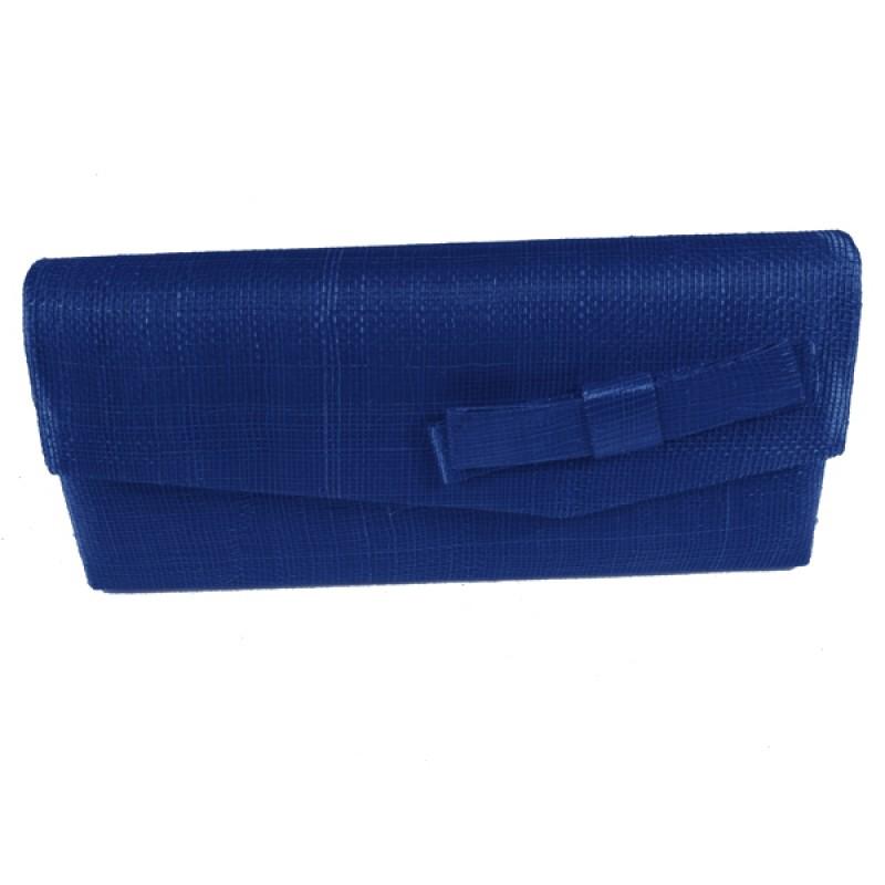 sac pochette mariage noeud sinamay rouge bleu marron. Black Bedroom Furniture Sets. Home Design Ideas