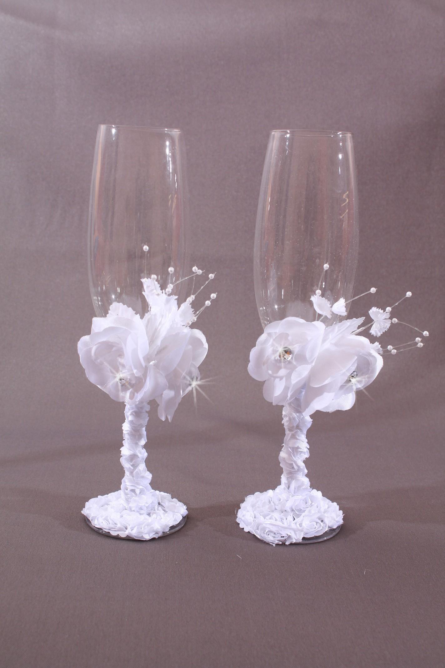 Flute coupe champagne mariage fleur perles strass - Coupe de mariage ...