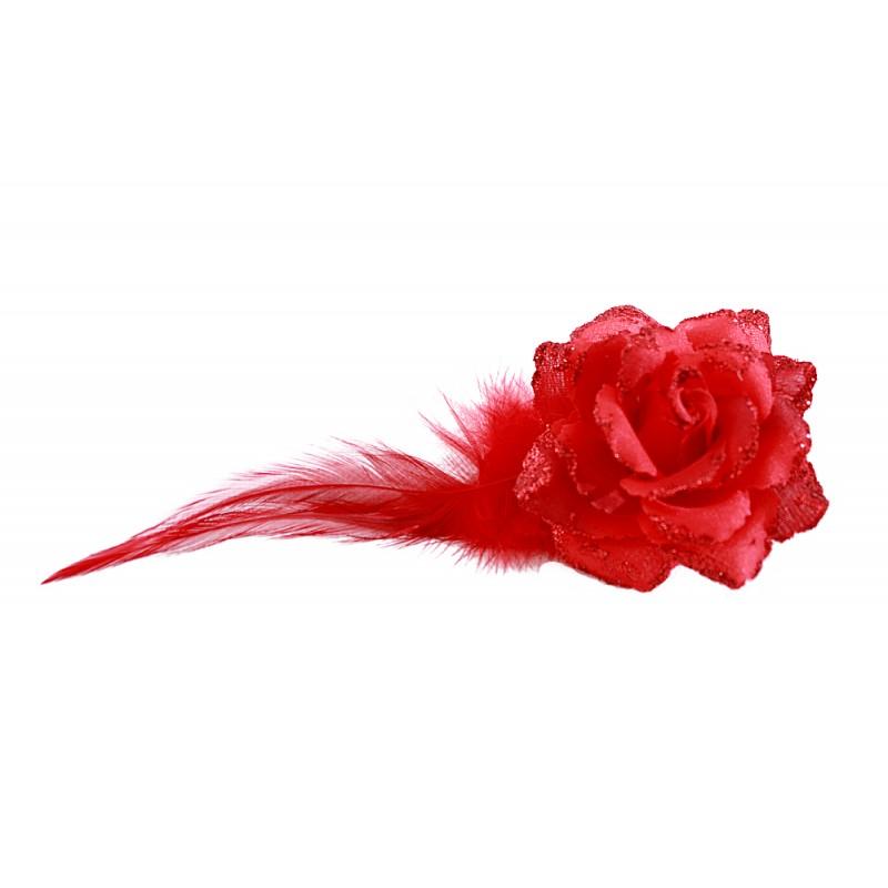 pince mariage fleur plumes tissu scintillant bleu rose rouge jaune orange vert. Black Bedroom Furniture Sets. Home Design Ideas