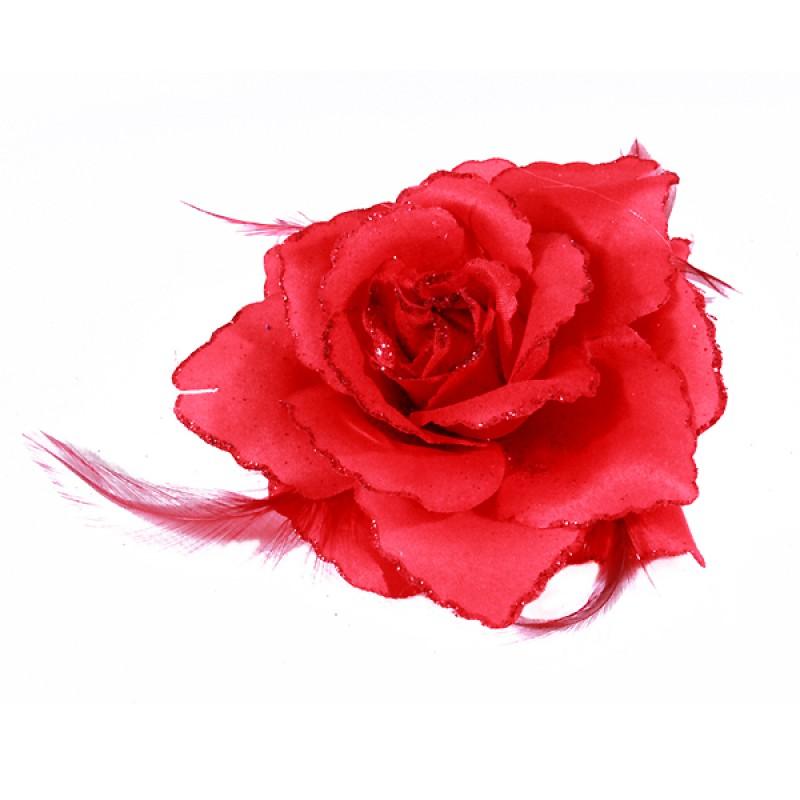 broche pince elastique mariage fleur tissu scintillants rouge noir rose violet bleu blanc. Black Bedroom Furniture Sets. Home Design Ideas