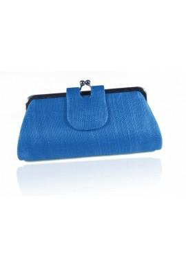 Sac Pochette Mariage Porte Monnaie Sisal Bleu