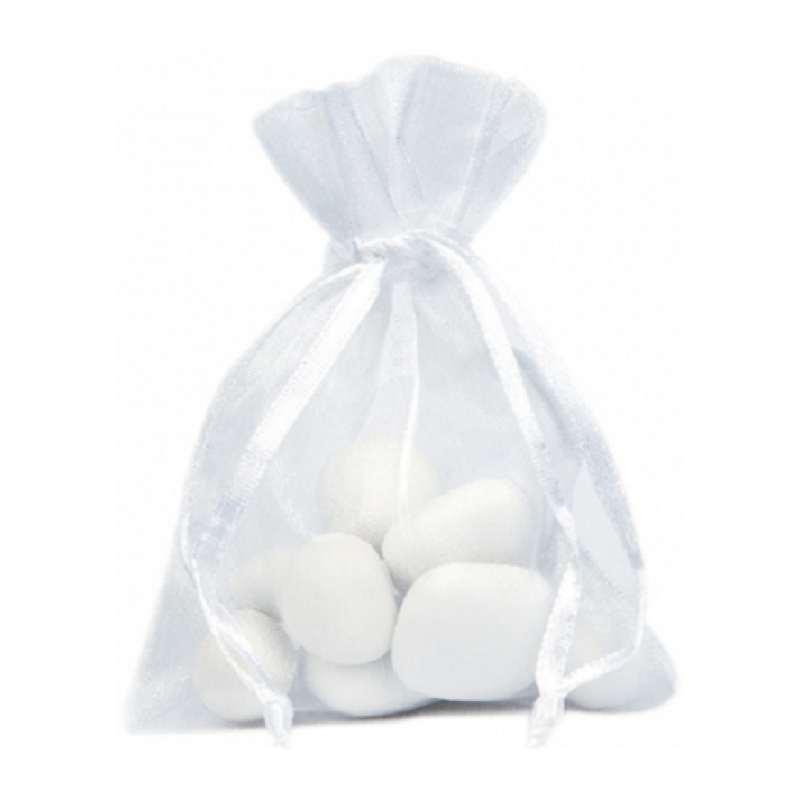 Sachet De Dragée Organdi Blanc Transparent