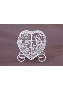 Mini-cage Carosse blanche Dragees