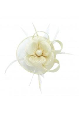 Pince Broche Mariage Fleur Trèfles Coupelle Ivoire