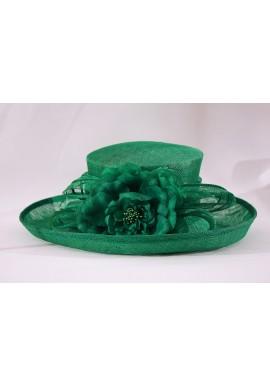Chapeau Fleur Marguerite Mariage Vert