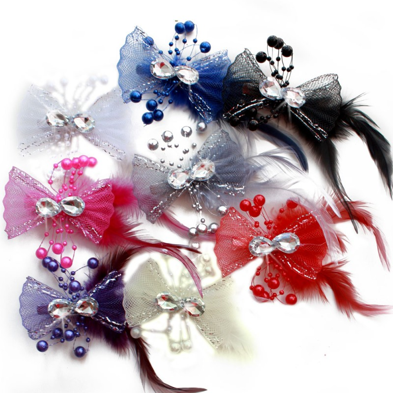 pince mariage tulle strass perles scintillant bleu rose ivoire rouge violet gris noir blanc. Black Bedroom Furniture Sets. Home Design Ideas